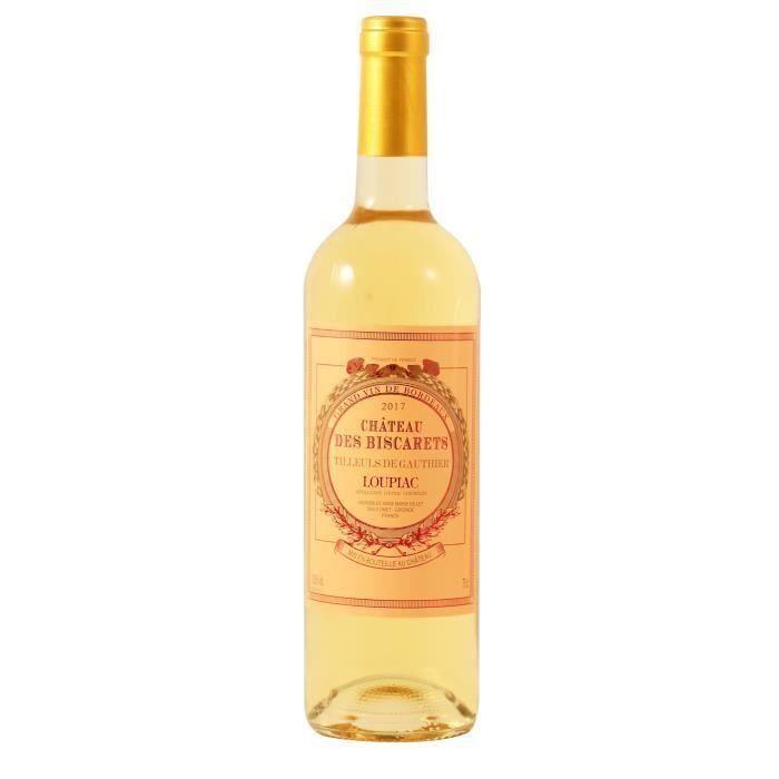 Château Biscarets Tilleuls Gauthier 2018 Loupiac - Vin blanc liquoreux du Sud-Ouest