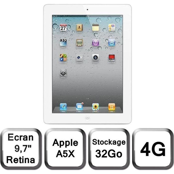 Apple Nouvel iPad blanc 9,7- LED 32 Go 4G