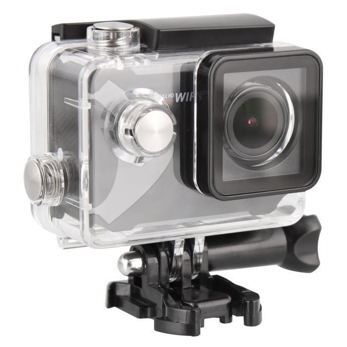 T'nB SPCAMWIFI2 Caméra sport WiFi Full HD 1080p - 15 accessoires fournis - Noir et gris