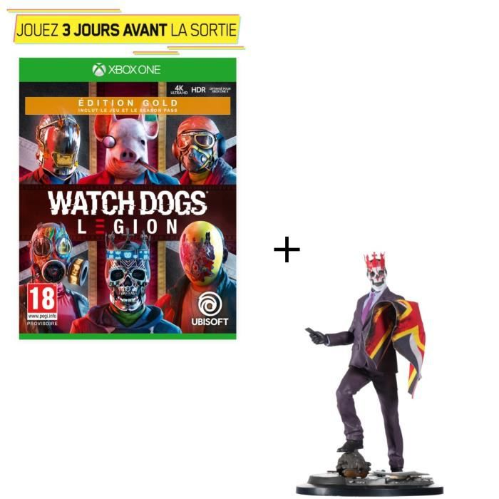 Pack Xbox One : Watch Dogs Legion Édition Gold + Figurine Watch Dogs Legion : Resistant of London