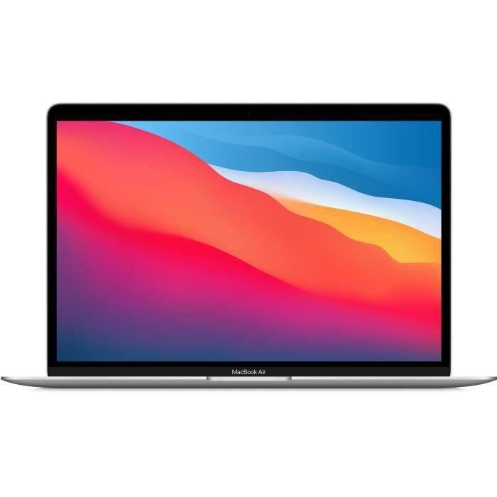 Apple - 13,3- MacBook Air (2020) - Puce Apple M1 - RAM 8Go - Stockage 256Go - Argent - AZERTY