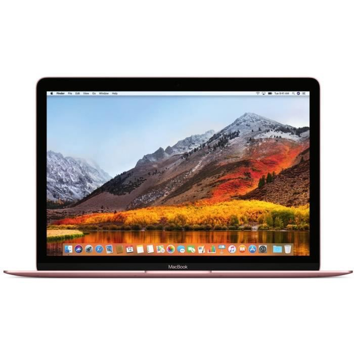 APPLE MacBook MNYM2FN/A - 12 pouces Rétina - Intel Core m3 - RAM 8Go - Stockage 256Go SSD - Rose Gold