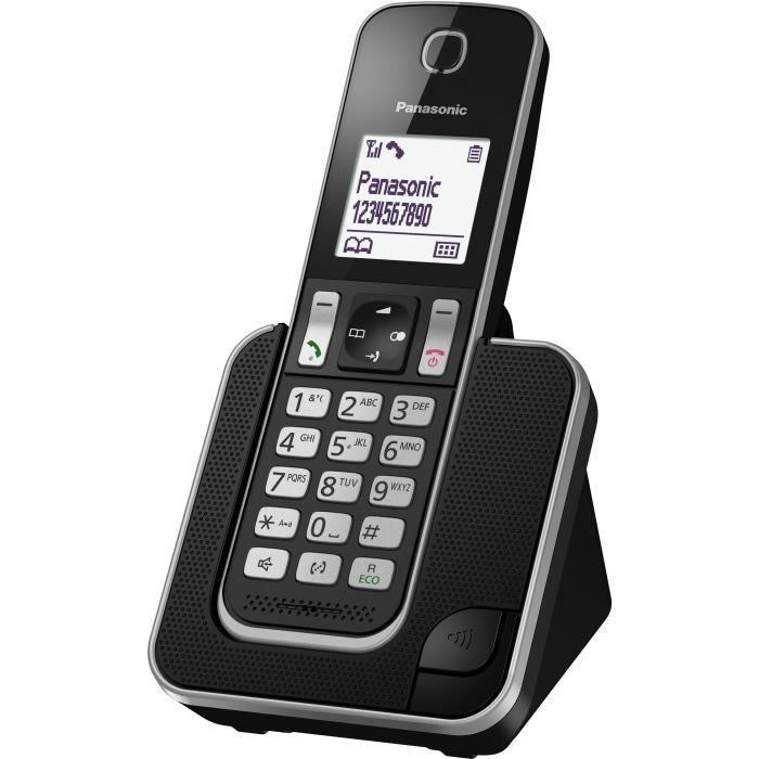 PANASONIC KX-TGD310FR - Téléphone numérique sans fil Noir
