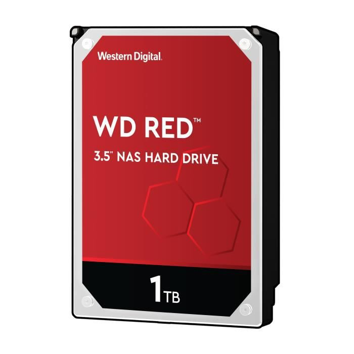 WD Red™ - Disque dur Interne NAS - 1To - 5 400 tr/min - Cache 64MB - 3.5- (WD10EFRX)