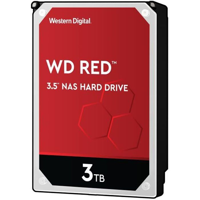 WD Red™ - Disque dur Interne NAS - 3To - 5 400 tr/min - 3.5- (WD30EFRX)