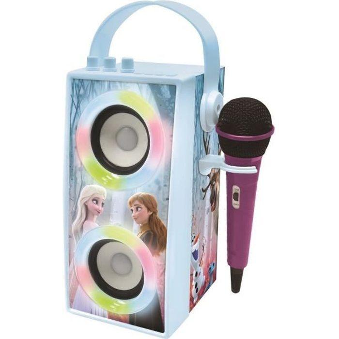 LA REINE DES NEIGES Enceinte Tendance Bluetooth® portable avec micro et effets lumineux LEXIBOOK