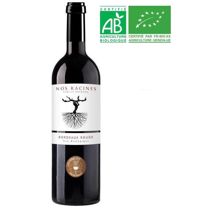 Nos Racines Famille Raymond AOP Bordeaux Rouge 2017 BIO - Vin rouge