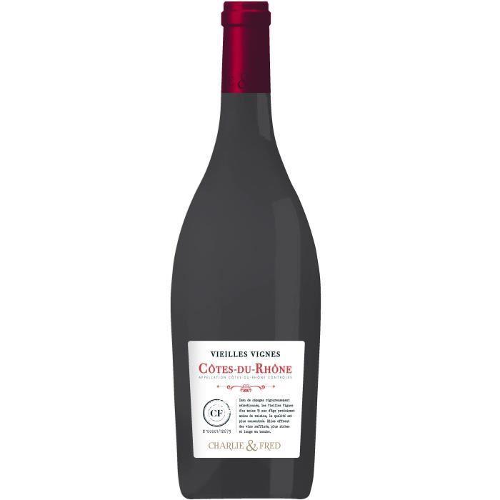 Charlie & Fred Vieilles Vignes 2017 Côtes du Rhône - Vin rouge de la Vallée du Rhône