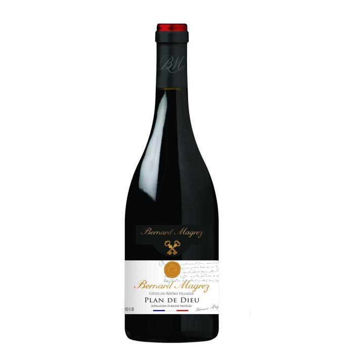 BERNARD MAGREZ Plan de Dieu 2018 Côtes du Rhone Villages - Vin rouge de la Vallée du Rhône