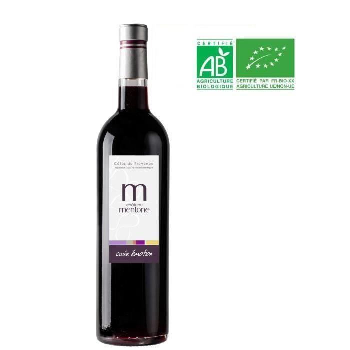 Château Mentone Emotion 2019 Côtes de Provence - Vin rouge de Provence - Bio