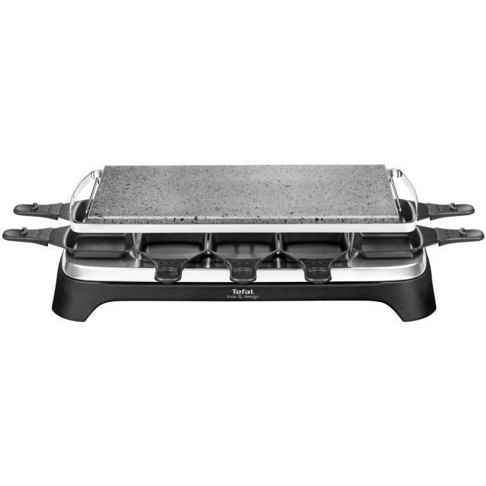 TEFAL PR457812 Appareil à raclette Pierrade 10 personnes - Noir