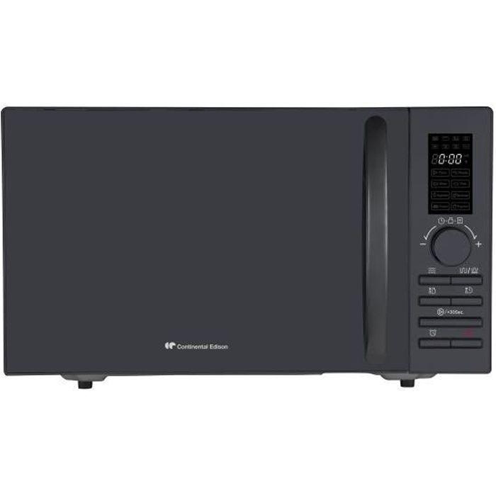 CONTINENTAL EDISON MO23GB Micro-ondes Grill Noir - 23L - 800 W - Grill 1000 W - Pose libre