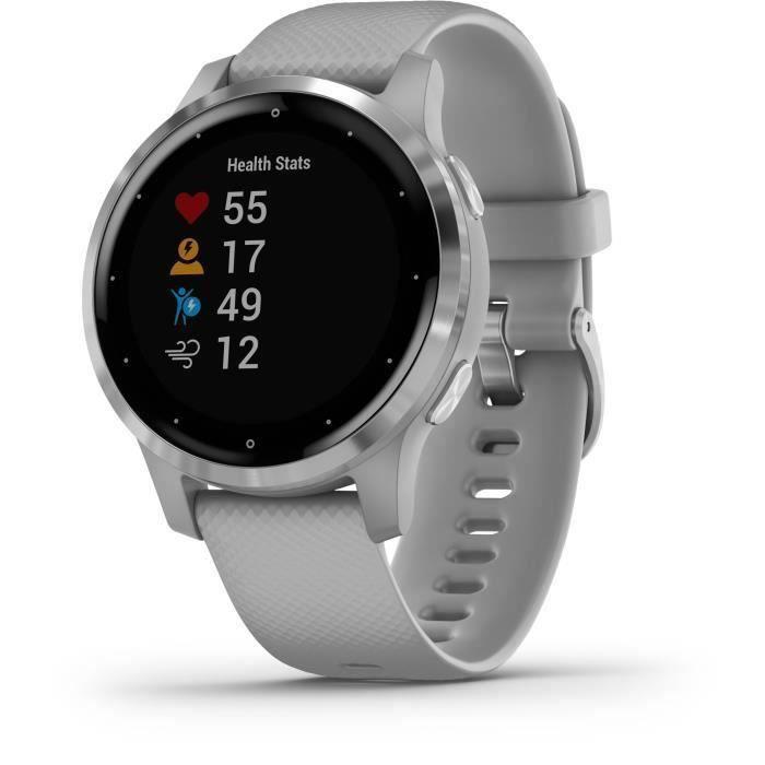 Garmin vivoactive 4S - Montre connectée GPS multisports - Silver Powder Grey