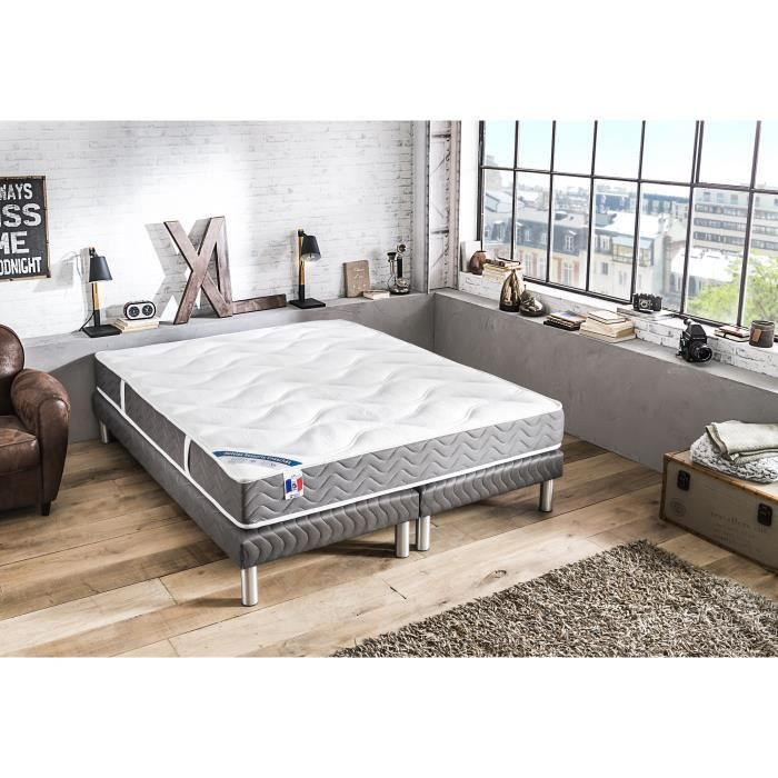 lit ensemble sommier et matelas confort design. Black Bedroom Furniture Sets. Home Design Ideas