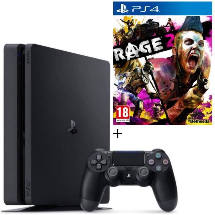 Pack PS4 500 Go Noire + Rage 2