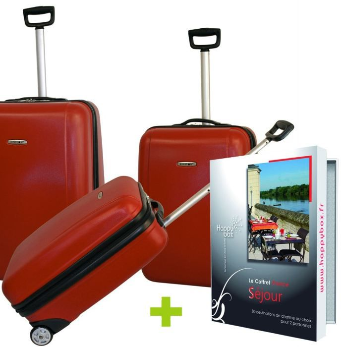 Pack de 4 3 Valises Trolley Kinston + 1 Happy Box