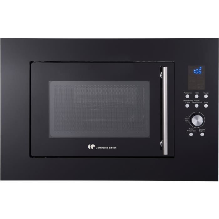 CONTINENTAL EDISON CEMO25GEB - Micro-ondes Gril noir - 25L - 900 W - Grill 1000 W - Encastrable