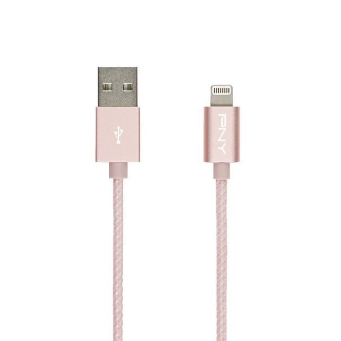 PNY Câble de Charge & Synchronisation Lightning™ 1,2m Rose Gold