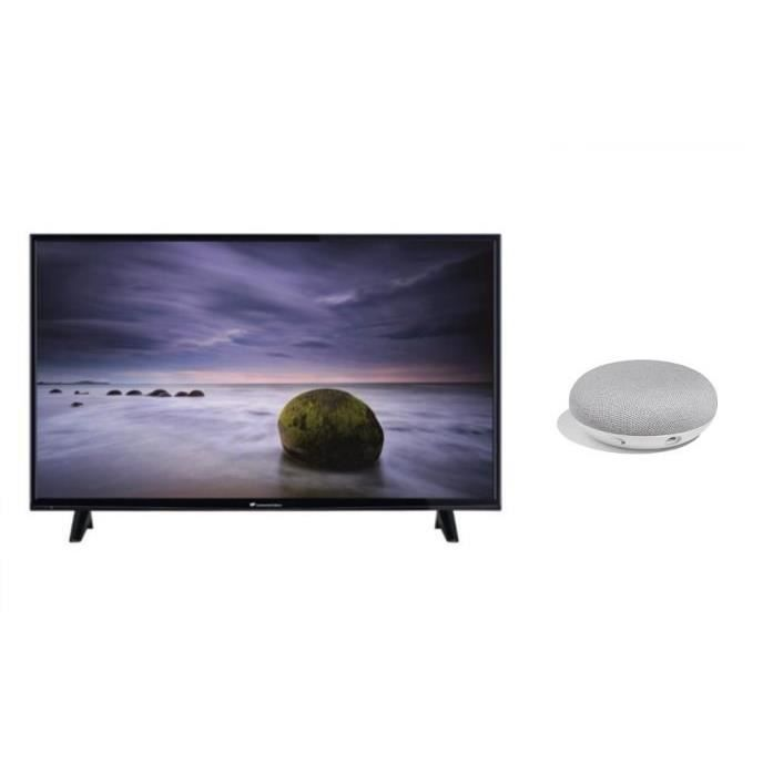 Kit continental edison tv led full hd smart 121 cm 48 google home mini fr