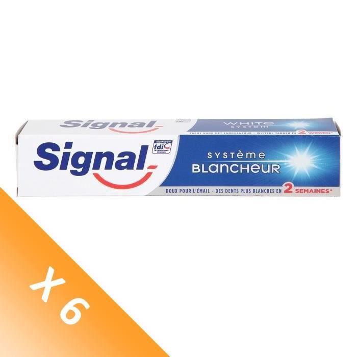 Signal Lot de 6 Dentifrices Système blancheur (75 mL x6)
