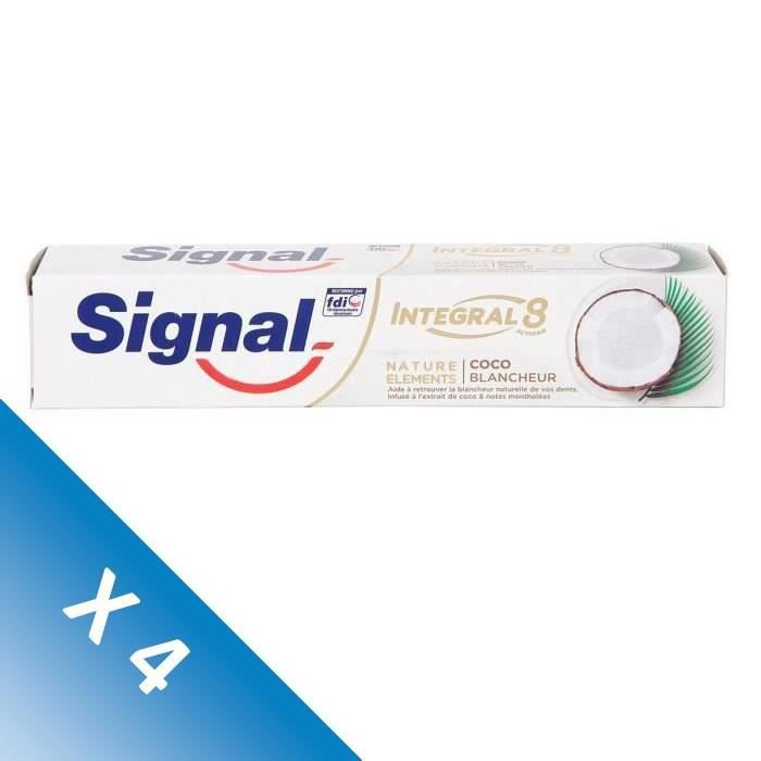 Signal Lot de 4 Dentifrices Natural Elements Coco Blancheur (75 mL x4)