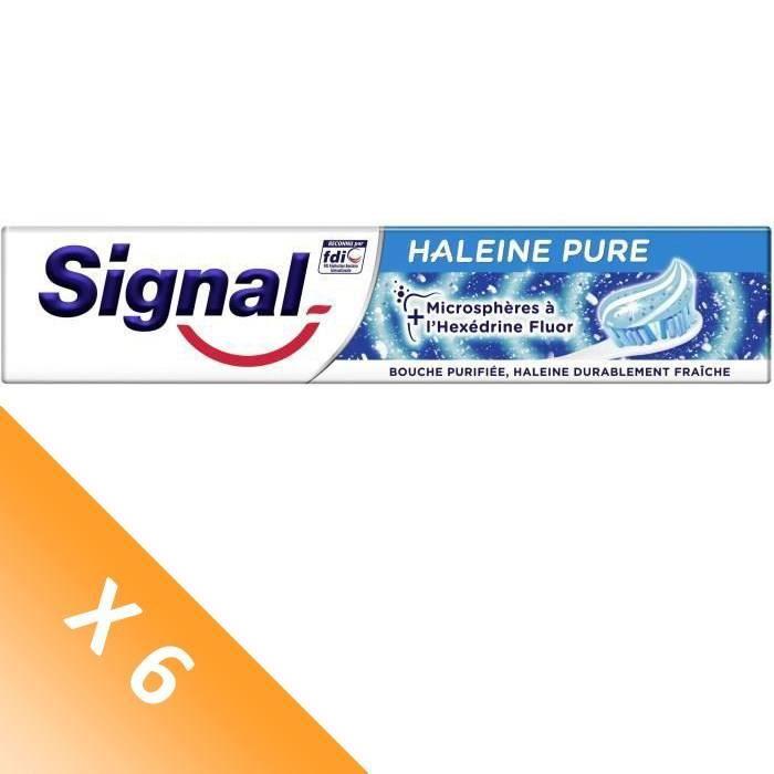 Signal Lot de 6 Dentifrices Haleine Pure (75 mL x6)