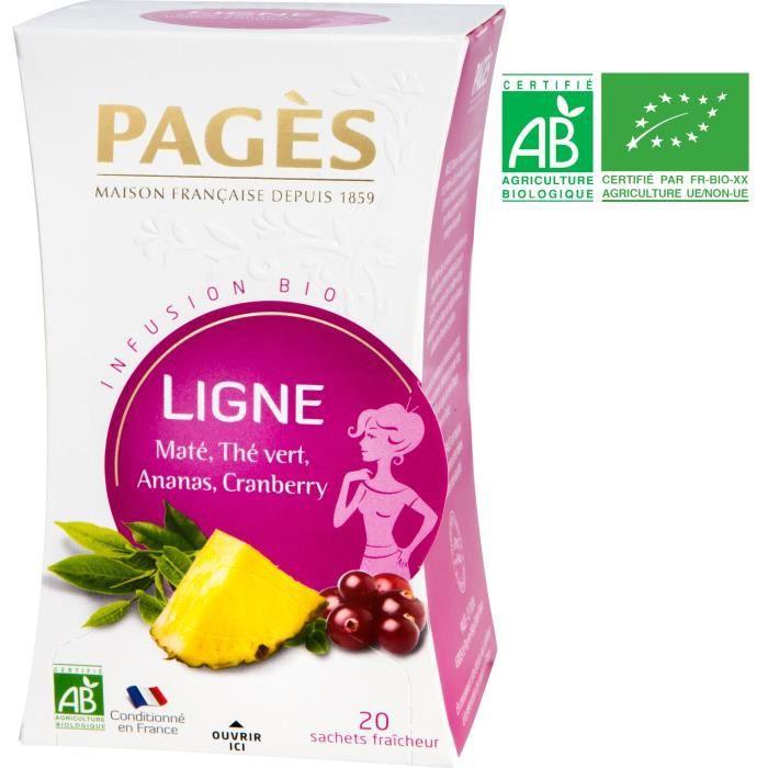 PAGES Infusion Ligne - Maté, Thé Vert, Ananas, Cranberry - Bio