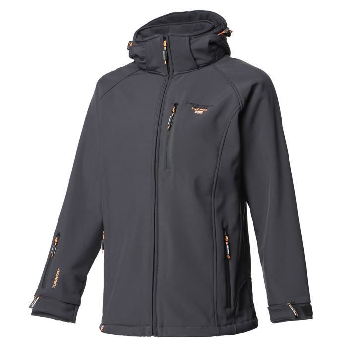 GEOGRAPHICAL NORWAY Veste Softshell Taboo Basic Ass A 009 + BS 5 - Homme - Gris foncé