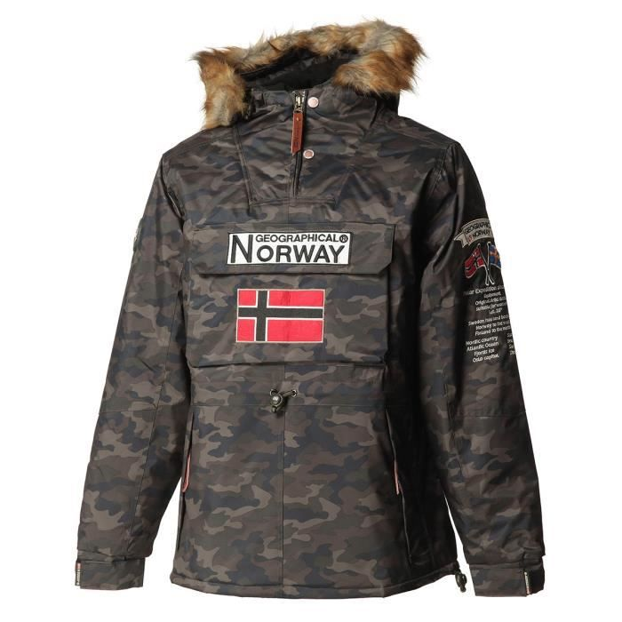 GEOGRAPHICAL NORWAY Parka Barman Camo 068 - Homme - Kaki