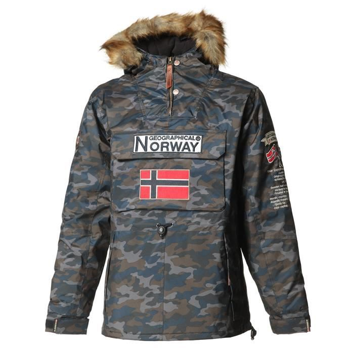 GEOGRAPHICAL NORWAY Parka Barman Camo 068 - Homme - Marine