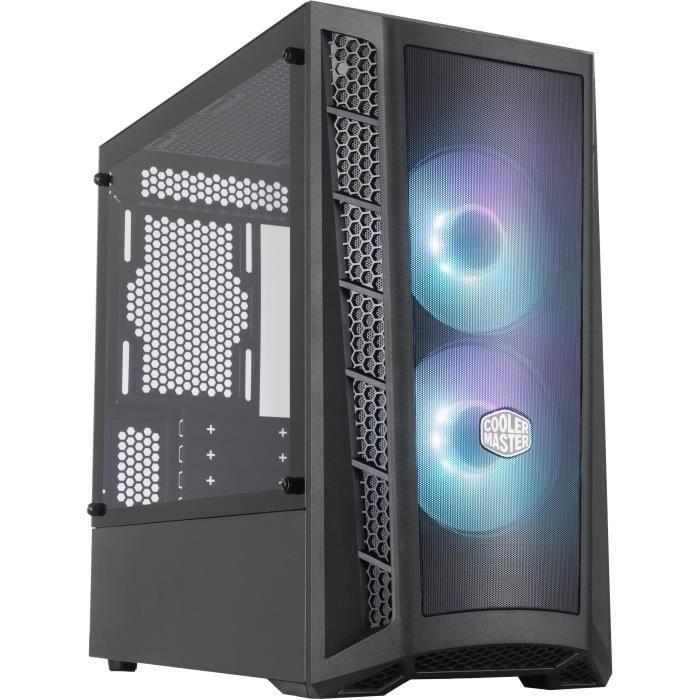 COOLER MASTER MB311L ARGB Mesh Boîtier PC Gaming (M-ATX, Panneau en verre trempé, 2x120mm ARGB)