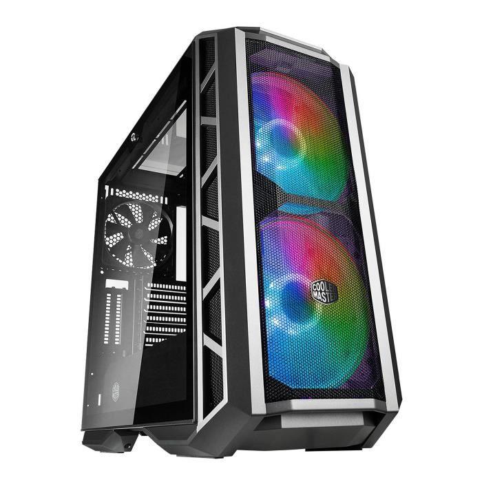 COOLER MASTER LTD BOITIER PC MasterCase H500P - Gunmetal Mesh - ARGB - Noir - Verre trempé - Format ATX (MCM-H500P-MGNN-S11)