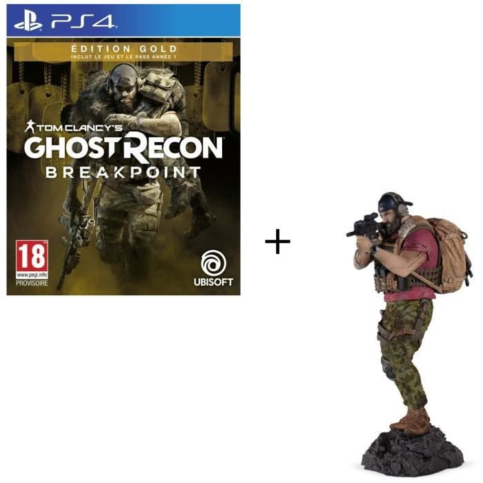 Pack PS4 : Ghost Recon BREAKPOINT Édition Gold + Figurine Nomad