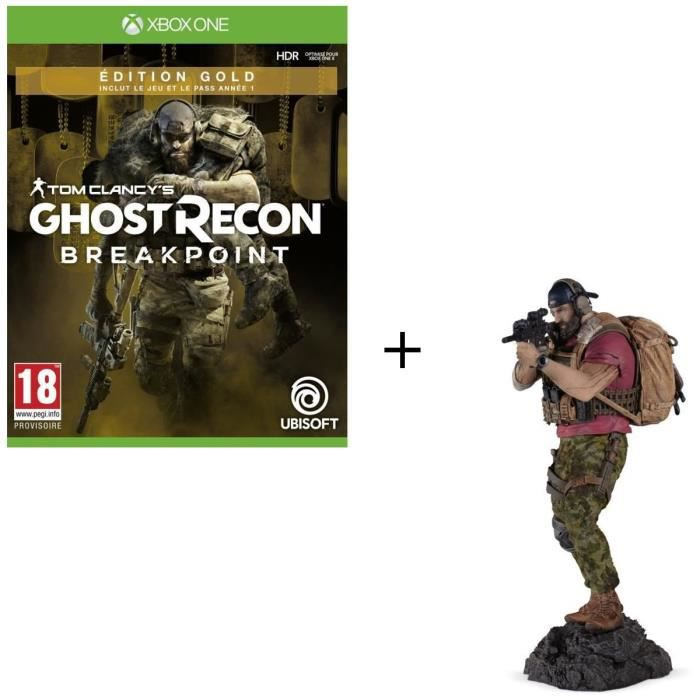 Pack Xbox One : Ghost Recon BREAKPOINT Édition Gold + Figurine Nomad