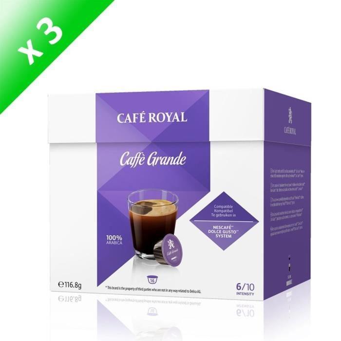 [LOT DE 48] capsules Café Royal Dolce Caffe Grande Capsules Compatibles Système Dolce Gusto ®