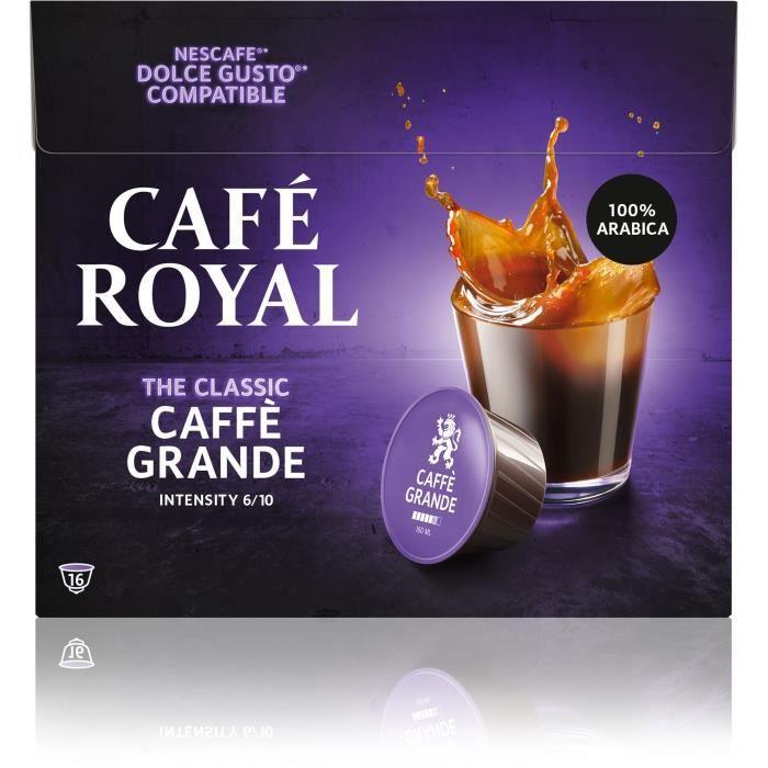 CAFE ROYAL Lot de 3 Cafés Compatible Dolce Gusto R Caffe Grande - 16 capsules