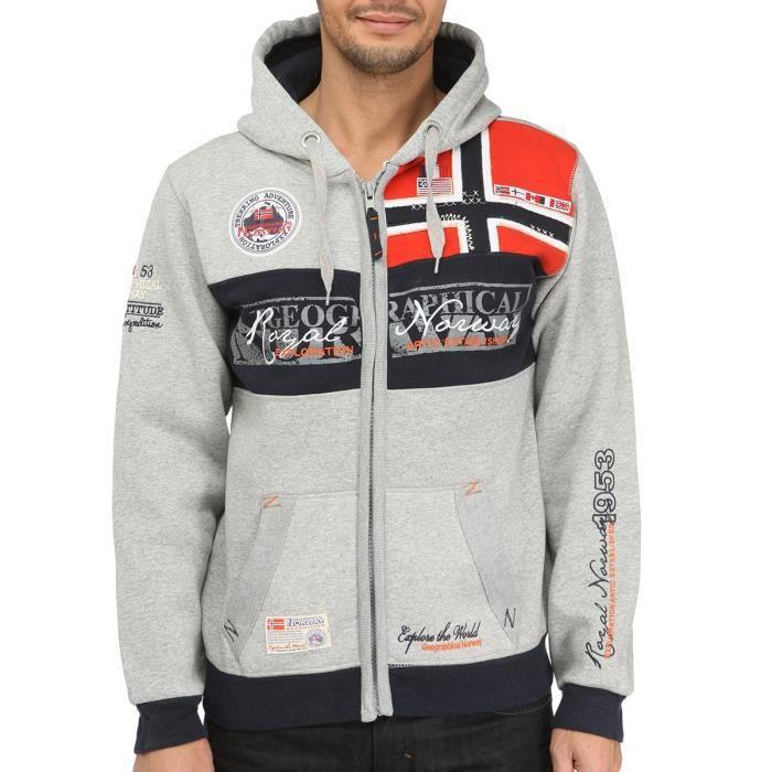 GEOGRAPHICAL NORWAY Sweat zippé Capuche
