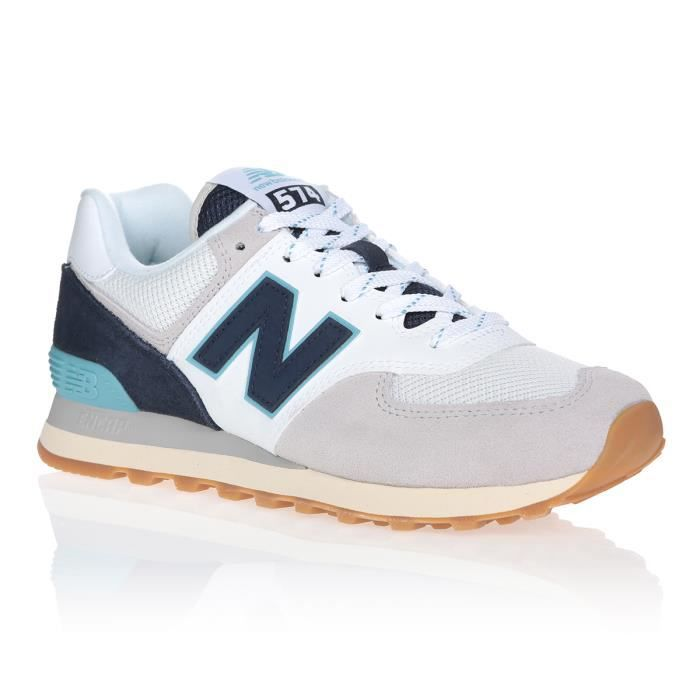 NEW BALANCE Baskets ML574SOU Gris/Bleu Marine/Blanc Mixte
