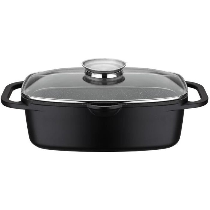 GSW Cocotte à induction Gourmet Granit - 6 l