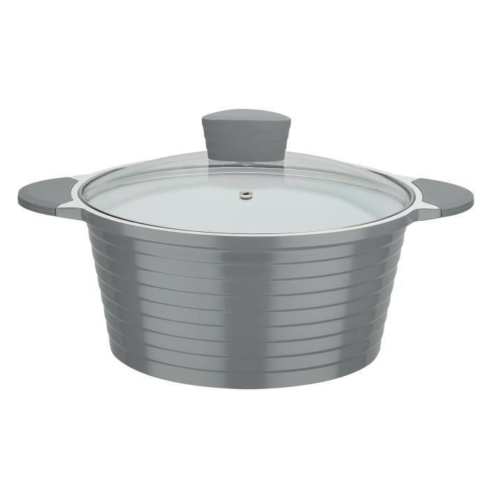 GSW Marmite revêtement en céramique Greblon® à induction Bolero Grey - 24 cm