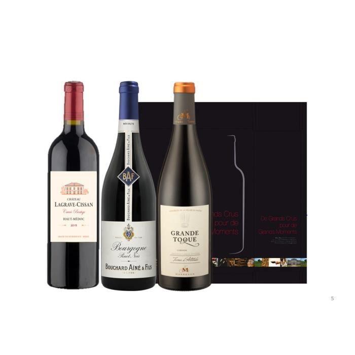 Coffret Trilogie de Grands Vins de France