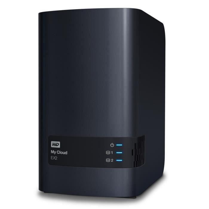 WD - Serveur de Stockage domestique & pro - My Cloud EX2 Ultra - 8To