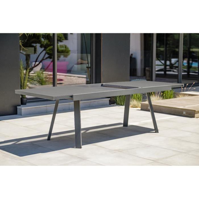 DCB GARDEN Table Stockholm-TB300-aluminium + 6 chaises + 2 fauteuils