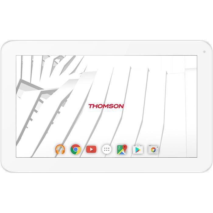Thomson Tablette tactile Teo 10 Ecran 10'' 1 Go de Ram Androïd 7.1 Cpu Rockship Rk3126 Stockage 32 Go Wifi Blanche