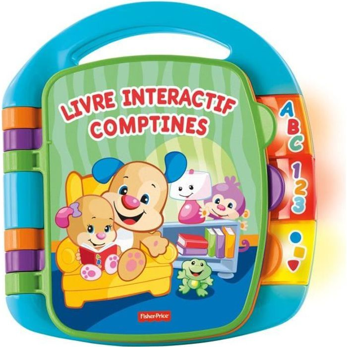 FISHER-PRICE - Livre Interactif Comptines Puppy
