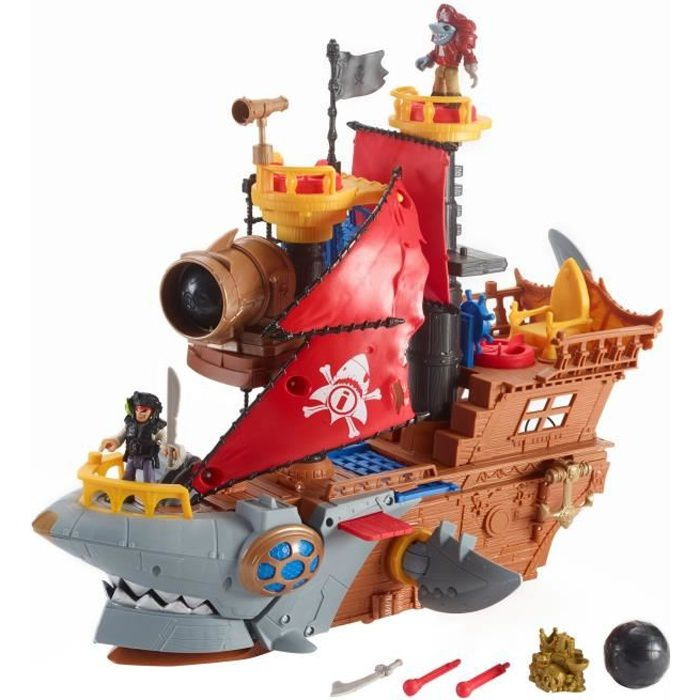 FISHER-PRICE Imaginext Bateau Pirate Requin - 3 ans et +