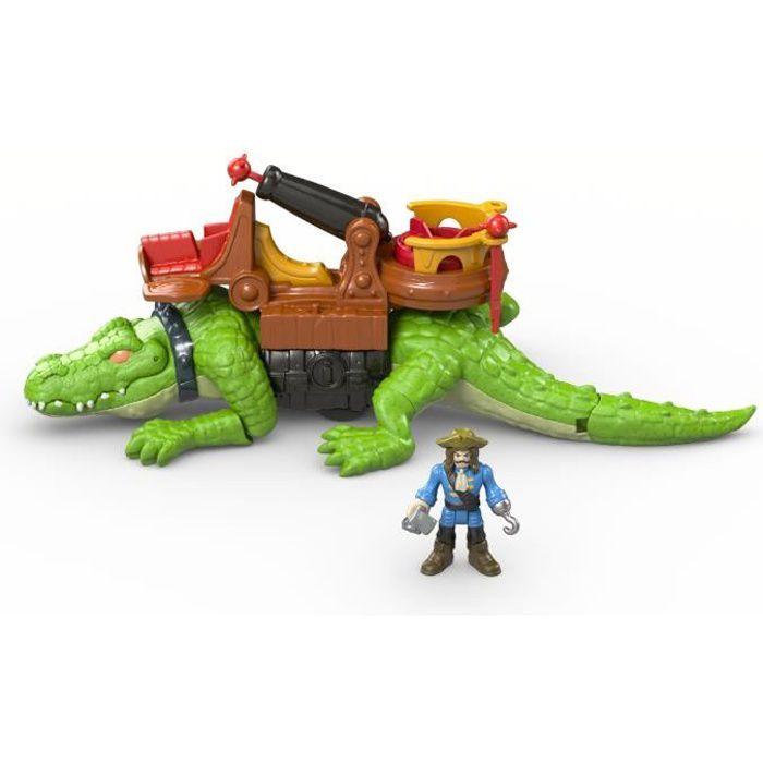 FISHER-PRICE Imaginext Crocodile et Capitaine Crochet - 3 ans et +