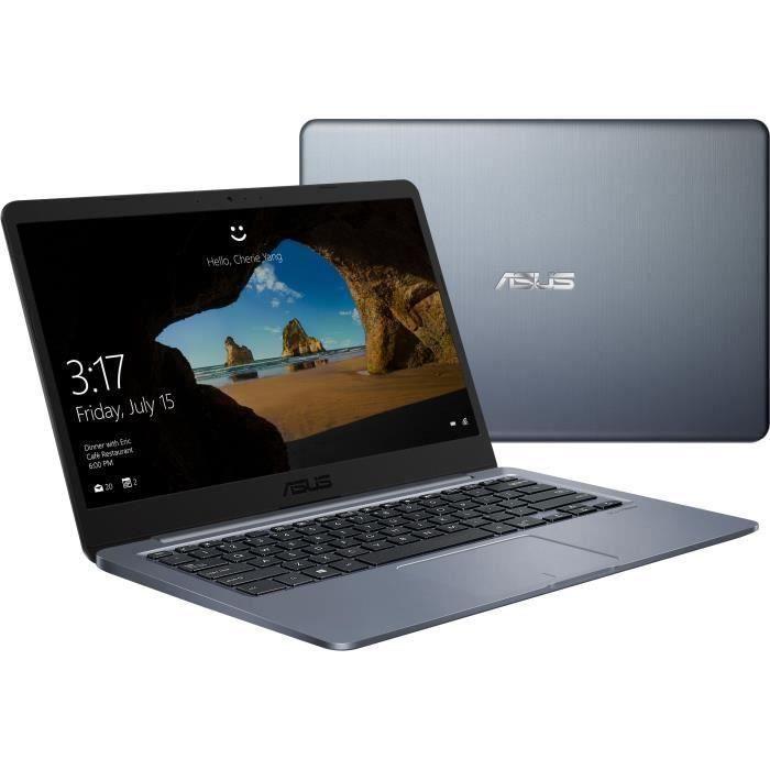 Ordinateur Portable Asus E406ma Bv126t 14 pouces Hd Pentium N5000 Ram 4Go Stockage 128Go Windows 10 Home S