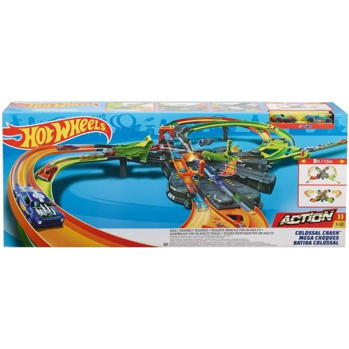 HOT WHEELS Action Circuit Motorisé Crash Colossal