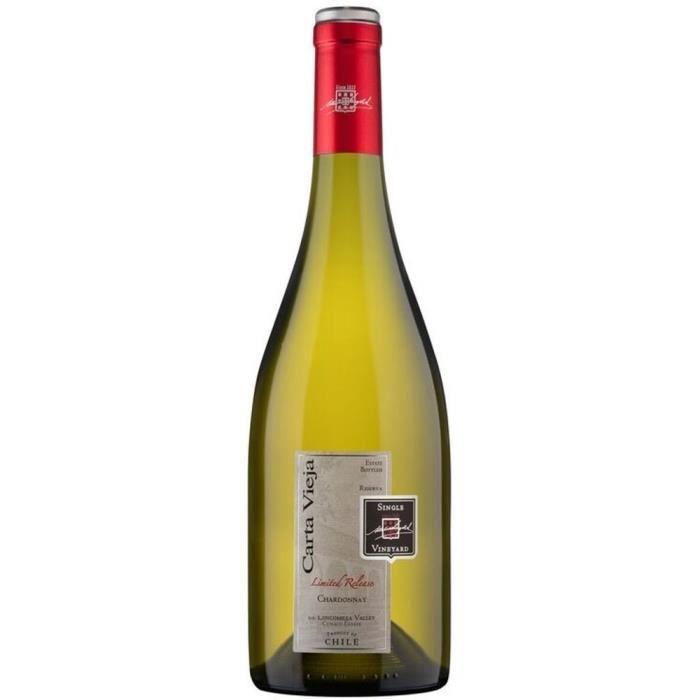 CARTA VIEJA Reserva Chardonnay Vin du Chili - Blanc - 75 cl